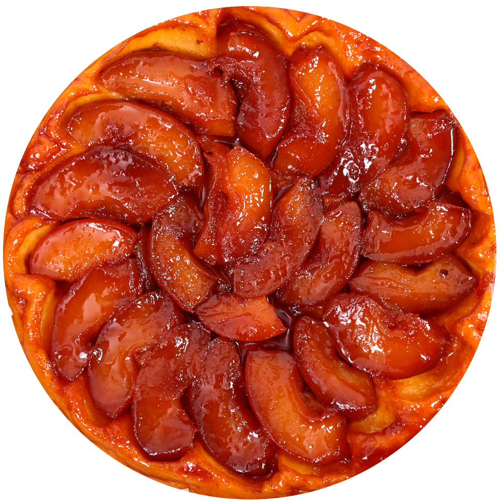 Нормандский пирог с шоколадным соусом, имбирем и яблоками