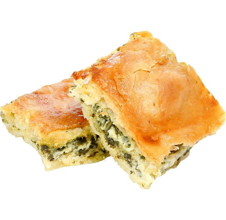 Мини пирог с фетой и сладкий салат с медом