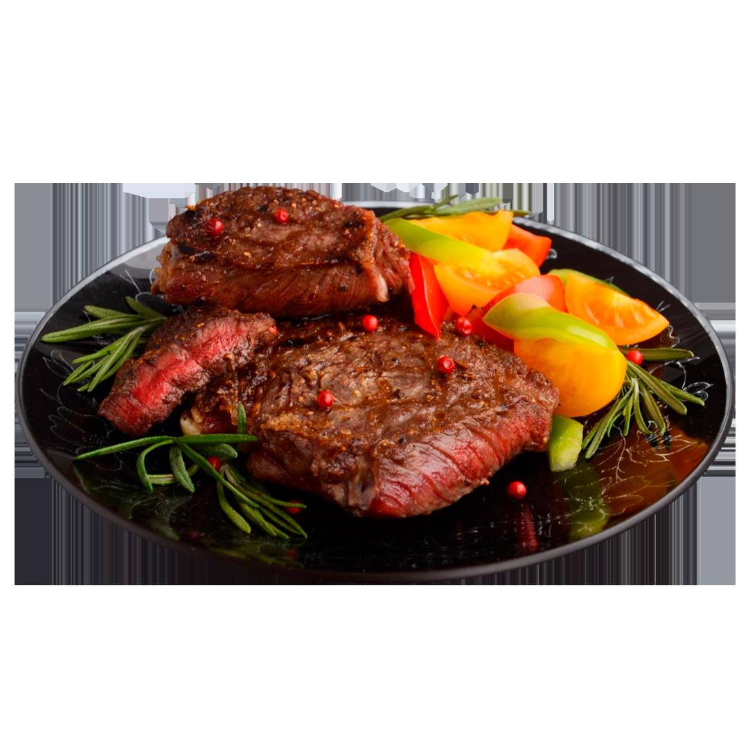 Антрекот из говядины / Чесночно-сливочный соус /Картофель «boulangeres»