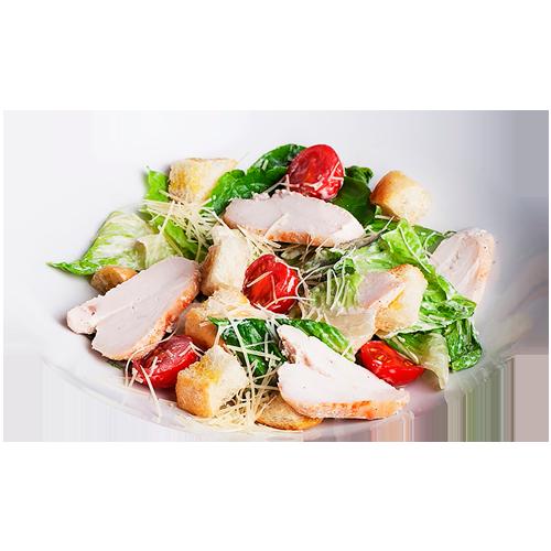 Салат «нисуаз» с тушенной курицей