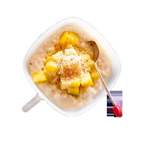 Riz au lait grand mere с ананасом и карамельным соусом