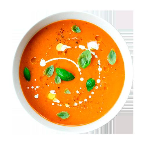 Ароматный крем-суп из красного перца  с чипсами из пармезана